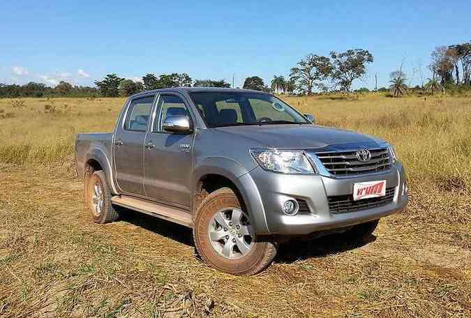 Toyota Hilux 4x2 SRV 2.7 Flex Automática tem preço sugerido de R$ 114.550(foto: Thiago Ventura/EM/D.A Press)