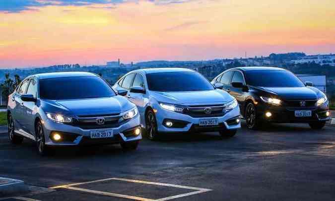 Modelo tem versões EX, EXL e Sport equipadas com motor 2.0 flex, e Touring, com o 1.5 turbo(foto: Honda/Divulgação)
