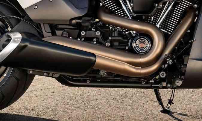 O motor com dois cilindros em vê tem 1.868cm³ de cilindrada(foto: Harley-Davidson/Divulgação)