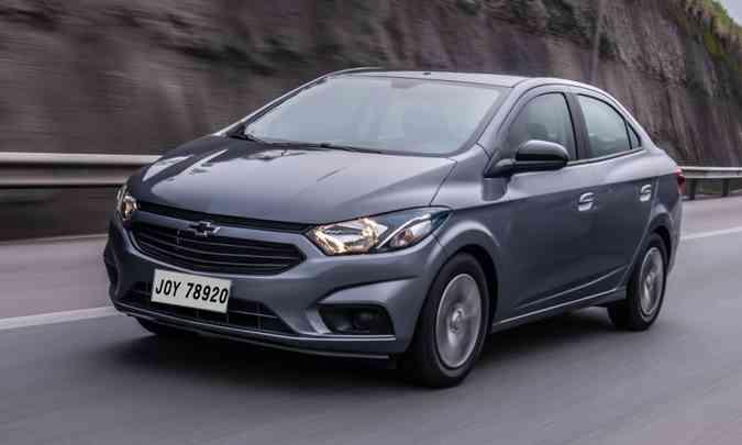 Equipado com motor 1.0, o novo Joy Plus tem preço sugerido de R$ 51.290(foto: Chevrolet/Divulgação)