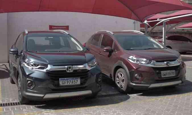 O novo WR-V ao lado do modelo anterior: mudanças bem discretas(foto: Jorge Lopes/EM/D.A Press)