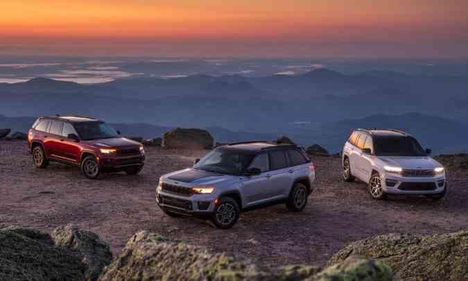 A linha 2022 do Jeep Grand Cherokee será vendida em seis versões: Laredo, Limited, Overland, Trailhawk, Summit e Summit Reserve(foto: Jeep/Divulgação)
