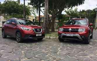 Kicks recebeu um visual melhor em relação ao SUV da Renault. Foto: Thainá Nogueira / DP