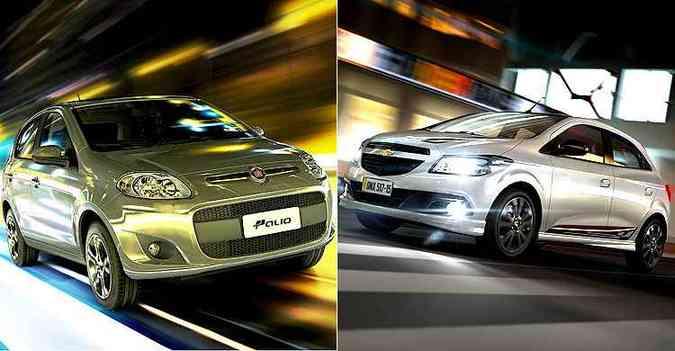 Fiat Palio ou Chevrolet Onix: qual será o mais vendido em 2015? Vote no fim da matéria!(foto: Divulgação?)