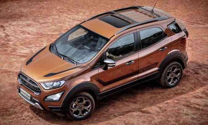 Para encarar pequenas aventuras fora do asfalto, modelo tem tração 4x4 sob demanda(foto: Ford/Divulgação)