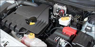 Motor 1.8 Flex tem torque e potência suficientes para empurrar a picape - Fotos: Marlos Ney Vidal/EM/D.A Press