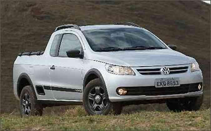 Picapes médias ou compactas, como a VW Saveiro, são consideradas caminhonetes(foto: Marlos Ney Vidal/EM/D.A. Press)