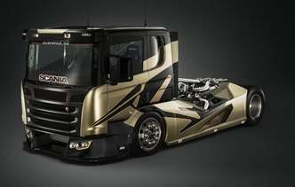 Caminhão da Scania foi modificado e entrega mais de 2 mil cavalos. Foto: Svempas / Divulgação