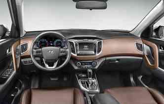 Um ponto que poderia ser repensado pela montadora é a implantação do freio de mão eletrônico, eliminando a alavanca(foto: Hyundai / Divulgação)