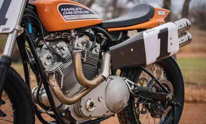 O motor de dois cilindros em V tinha arrefecimento a ar(foto: Harley-Davidson/Divulgação)