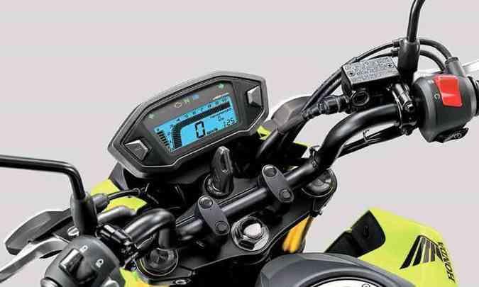 O painel é inteiramente digital, com o conta-giros em destaque(foto: Honda/Divulgação)