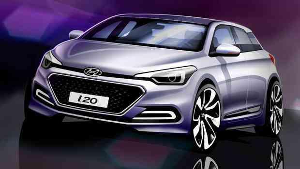Imagem-teaser é mais atrativo que a versão real do Hyundai i20 - Hyundai/Divulgação