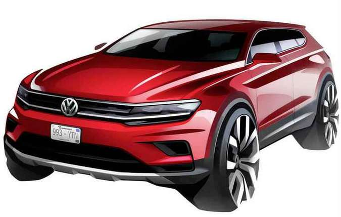 Tiguan ganha diferença de 11 cm nos entre-eixos que aumenta o espaço interno(foto: Volkswagen/Divulgação)