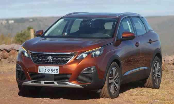 A Peugeot caprichou na segunda geração do 3008, que agrada em vários quesitos(foto: Leandro Couri/EM/D.A Press)