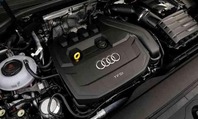O motor que equipa o Audi Q3 é o 1.4 TFSI de 150cv e 25,5kgfm de torque(foto: Chris Castanho/Audi/Divulgação)