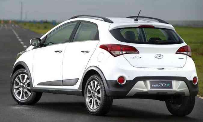 Suspensão é 41 mm mais alta que na versão hatch.(foto: Wagner Menezes/Hyundai/Divulgação)