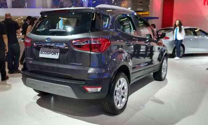 Finalmente, o Ford EcoSport deixa de ter o estepe pendurado na traseira(foto: Pedro Cerqueira/EM/D.A Press)
