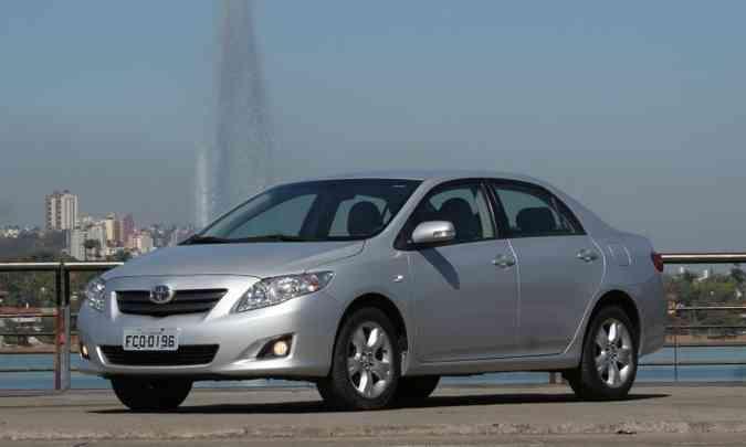 Toyota Corolla 2009(foto: Marlos Ney Vidal/EM/D.A Press 30/07/2009)