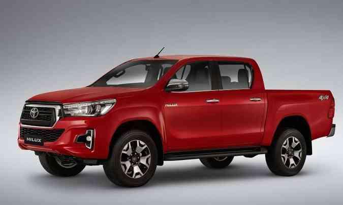 A Toyota Hilux teve 15.701 unidades emplacadas de janeiro a maio(foto: Toyota/Divulgação)