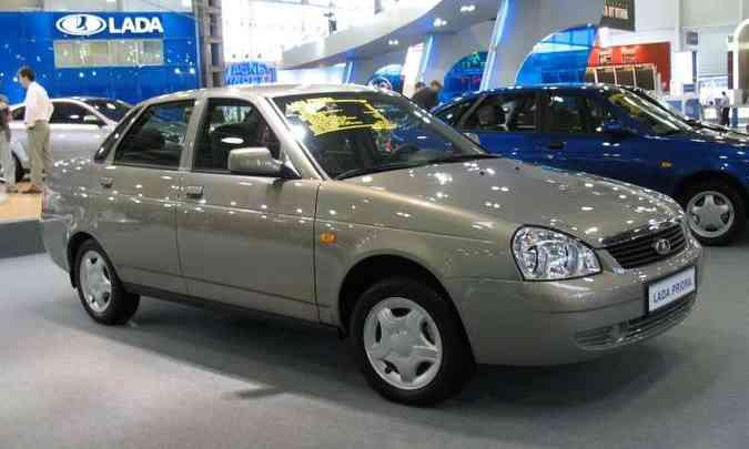 O Priora nada mais era que uma reestilização dos modelos derivados do VAZ-2110(foto: Reprodução/AutomotiveNews.com)
