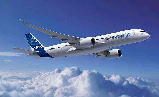 Avião é capaz de levar até 315 passageiros com teto de 14.350 km - Airbus/Divulgação