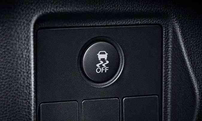 Comando para desativar o controle eletrônico de estabilidade(foto: Honda/Divulgação)