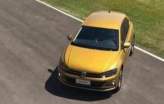 Volkswagen Polo já aparece na 14ª posição(foto: Jorge Moraes / DP)