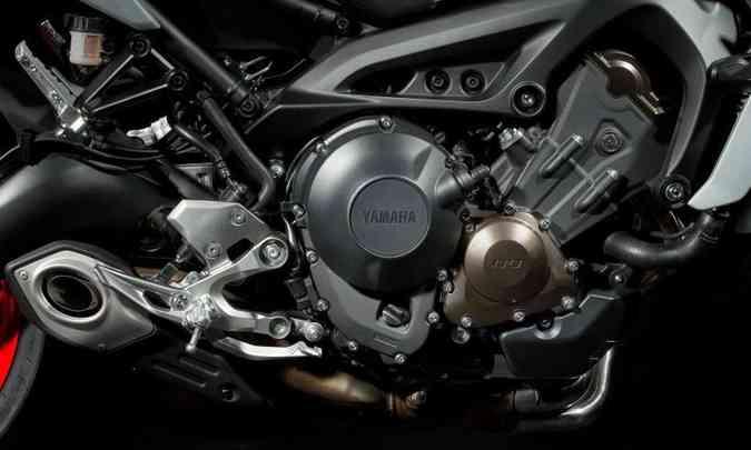 Com três cilindros em linha, o motor ganhou controle de tração e entrega 115cv(foto: Gustavo Epifânio/Yamaha/Divulgação)