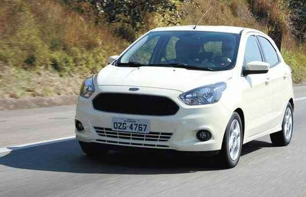 O motor 1.0 de três cilindros dá bom desempenho ao Ka hatch, o sedã chega depois, que mostrou bom comportamento dinâmico no test drive - Wanderley Affonso/Ford/divulgação
