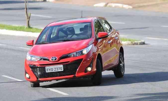 Toyota Yaris em carrocerias hatch e sedã com motores 1.3 e 1.5(foto: Ramon Lisboa/EM/D.A Press)