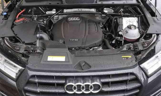 Motor 2.0 turbo, com injeção direta, proporciona desempenho impecável ao SUV médio(foto: Juarez Rodrigues/EM/D.A Press)