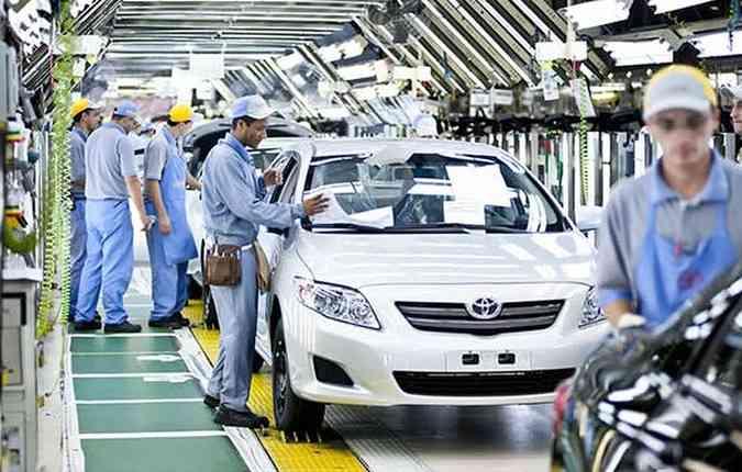 Fábrica da Toyota. Foto: Toyota/Divulgação