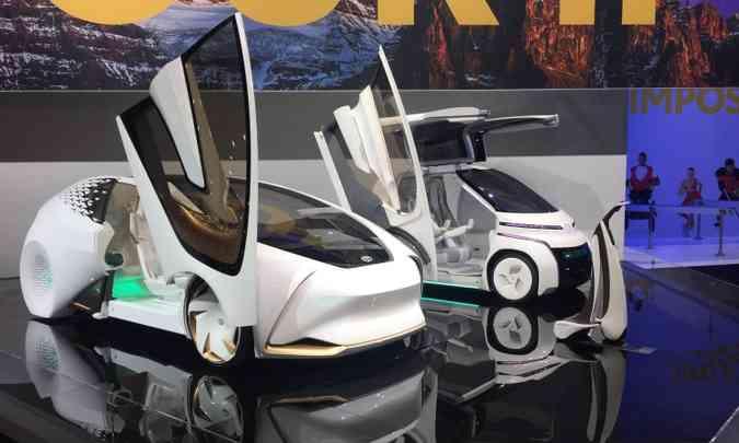 Toyota exibe outra vez a patinete i-Walk e os compactos i-Concept e i-Ride(foto: Enio Greco/EM/D.A Press)