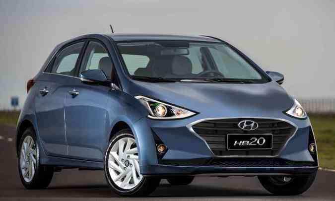 A Hyundai não permitiu imagens na Coreia do Sul, mas fizemos uma projeção de como será o novo HB20(foto: Projeção: Paulinho Miranda)