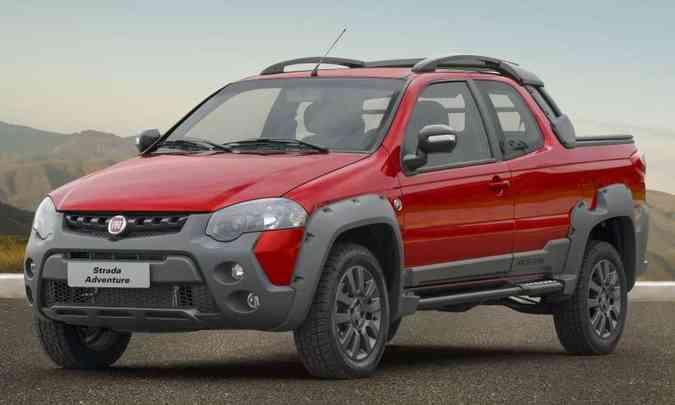 A Strada Adventure tem preço sugerido de R$ 79.990 e lista de equipamentos mais recheada(foto: Fiat/Divulgação)