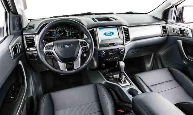 Instrumentação digital é um dos destaques do novo painel(foto: Ford/Divulgação)