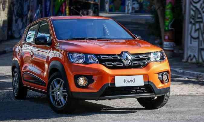 Neste primeiro trimestre, o Renault Kwid está na oitava colocação, com13.687 emplacamentos(foto: Renault/Divulgação)