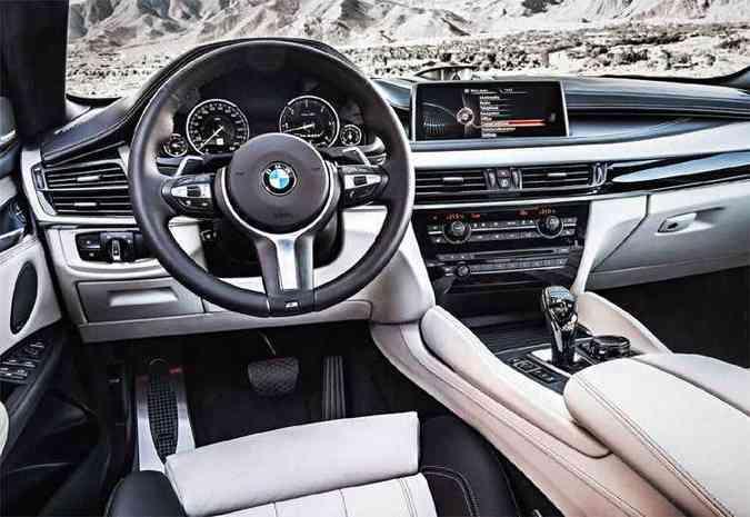 Interior com o pacote M(foto: BMW/Divulgação)