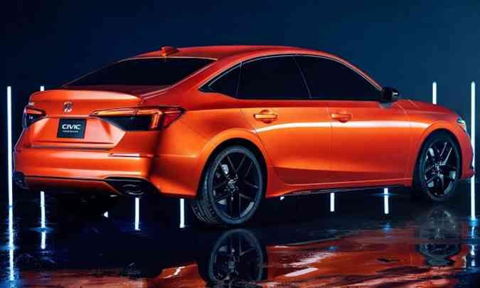 Imagens que vazaram na China só confirmam que o Civic Prototype divulgado já era basicamente como o modelo de produção(foto: Honda/Divulgação)