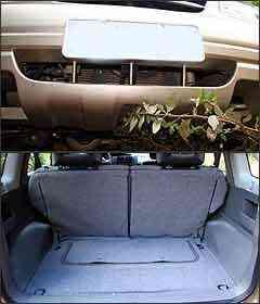 Mancada é falta de tela protetora na entrada de ar. Já o porta-malas pequeno requer habilidade na arrumação - Fotos: Marlos Ney Vidal/EM - 9/3/07