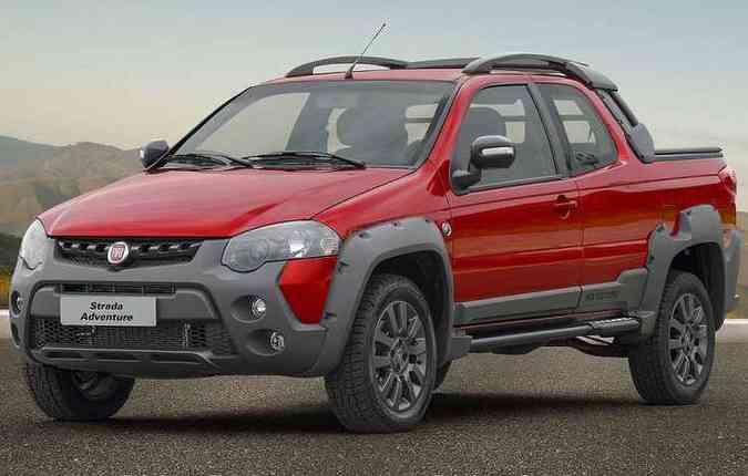 Nova Strada não apresenta mudanças no seu design(foto: Fiat/Divulgação)