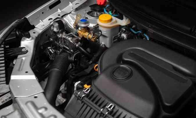 O motor recebe algumas adaptações para funcionar com o gás, como uso de material mais resistente(foto: Fiat/Divulgação)