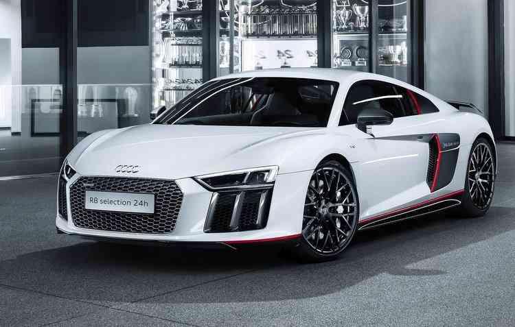 O superesportivo R8 Coupé V10 Plus estará disponível para testes. Foto: Audi/ Divulgação  -