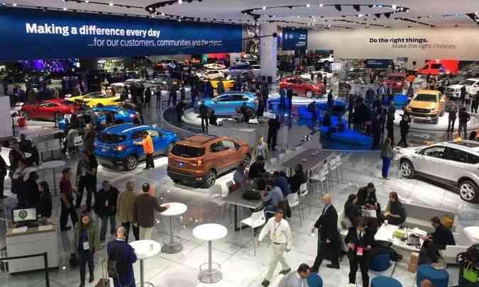 O Salão do Automóvel de Detroit (NAIAS 2018) está aberto ao público até o dia 28 (foto: Enio Greco/EM/D.A Press)