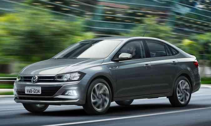 O Volkswagen Virtus é o mais vendido entre os chamados sedãs compacto premium(foto: Volkswagen/Divulgação)