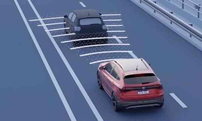 Modelo tem sistema que faz a leitura da distância e velocidade do veículo que está à frente(foto: Volkswagen/Divulgação)