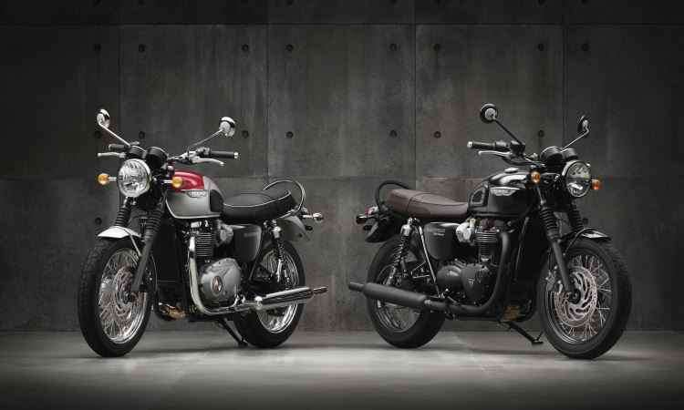 As Bonnevilles T1200 e T1200 Black têm mapas de motor, controle de tração e ABS - Triumph/Divulgação