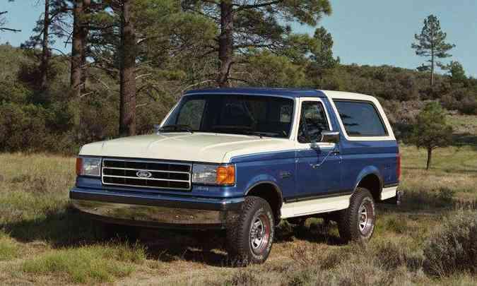Quarta geração do Bronco foi lançada em 1987 e produzida até 1991(foto: Ford/Divulgação)