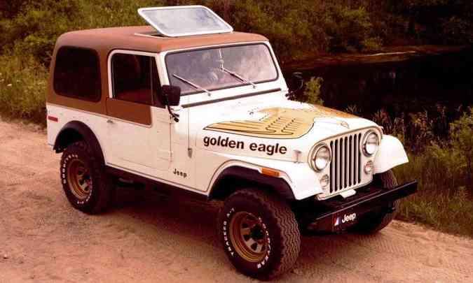 O CJ-7 oferecia como opcionais teto de plástico moldado e portas de aço(foto: Jeep/Divulgação)