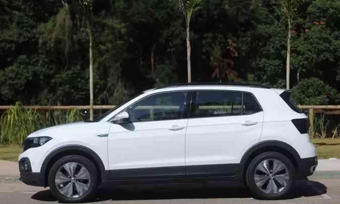 Após reinar em julho, VW T-Cross cai para a quarta colocação em agosto(foto: Leandro Couri/EM/D.A Press)